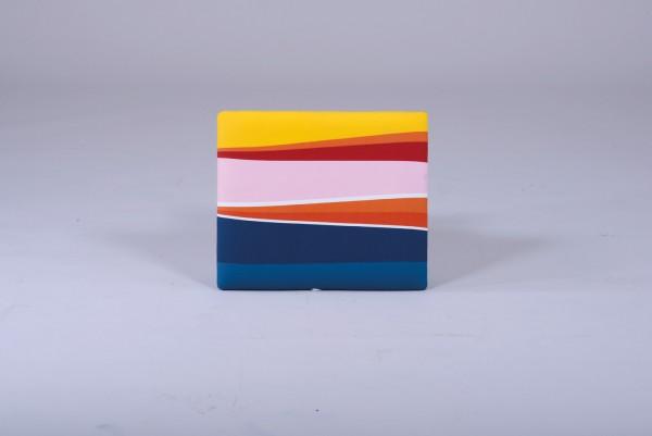 Deckel Spielzeugbox farbige Streifen